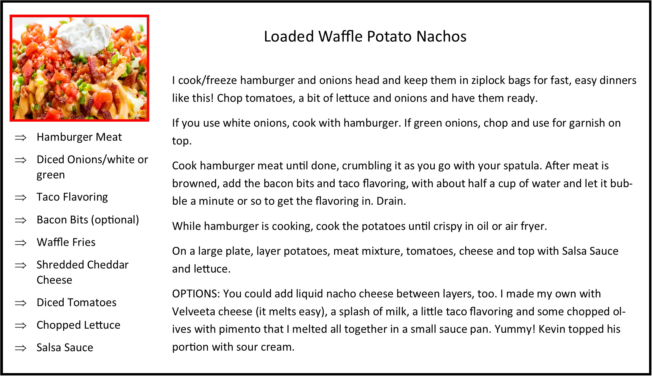 Loaded Waffle Potato Nachos