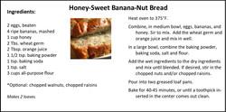Honey-Sweet Banana Nut Bread