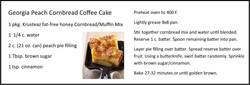 Georgia Peach Cornbread Coffee Cake
