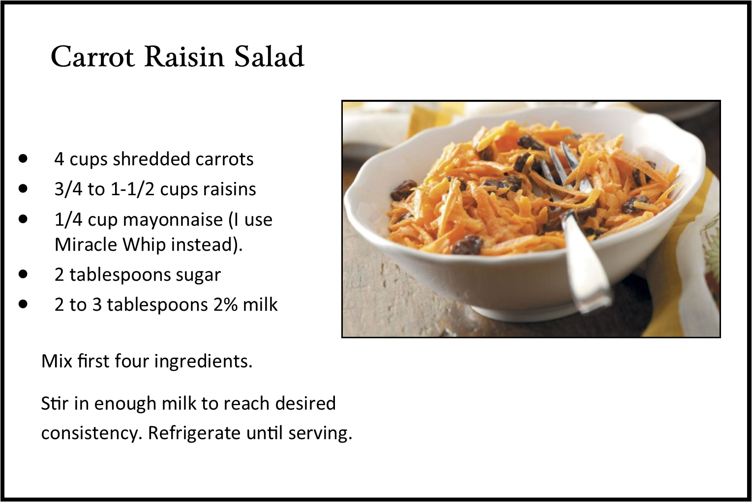 carrot raisin salad pic