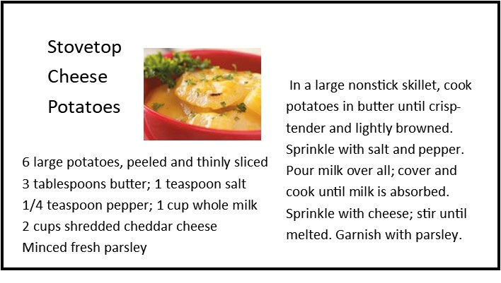 Stovetop Cheese Potatoes