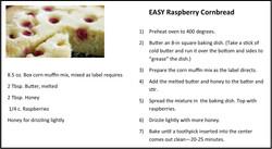 EASY Raspberry Cornbread