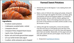 Fanned Sweet Potatoes