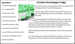 Drunken Grasshopper Fudge