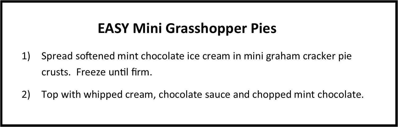 EASY Mini Grasshopper Pies