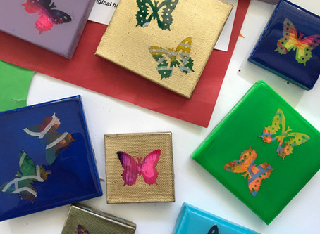 Mini Butterfly Canvases