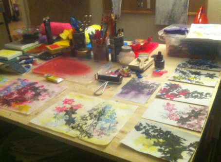 Stamps, Printmaking, and Primary Colors