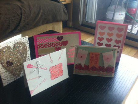 Card Making for Valentine's Day