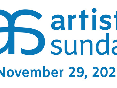 Join me for Artists Sunday on Nov 29.