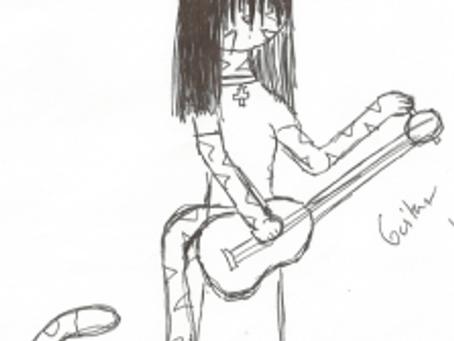 Guitar Cat Lady