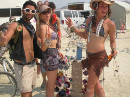 Fabric Flowers and Burning Man