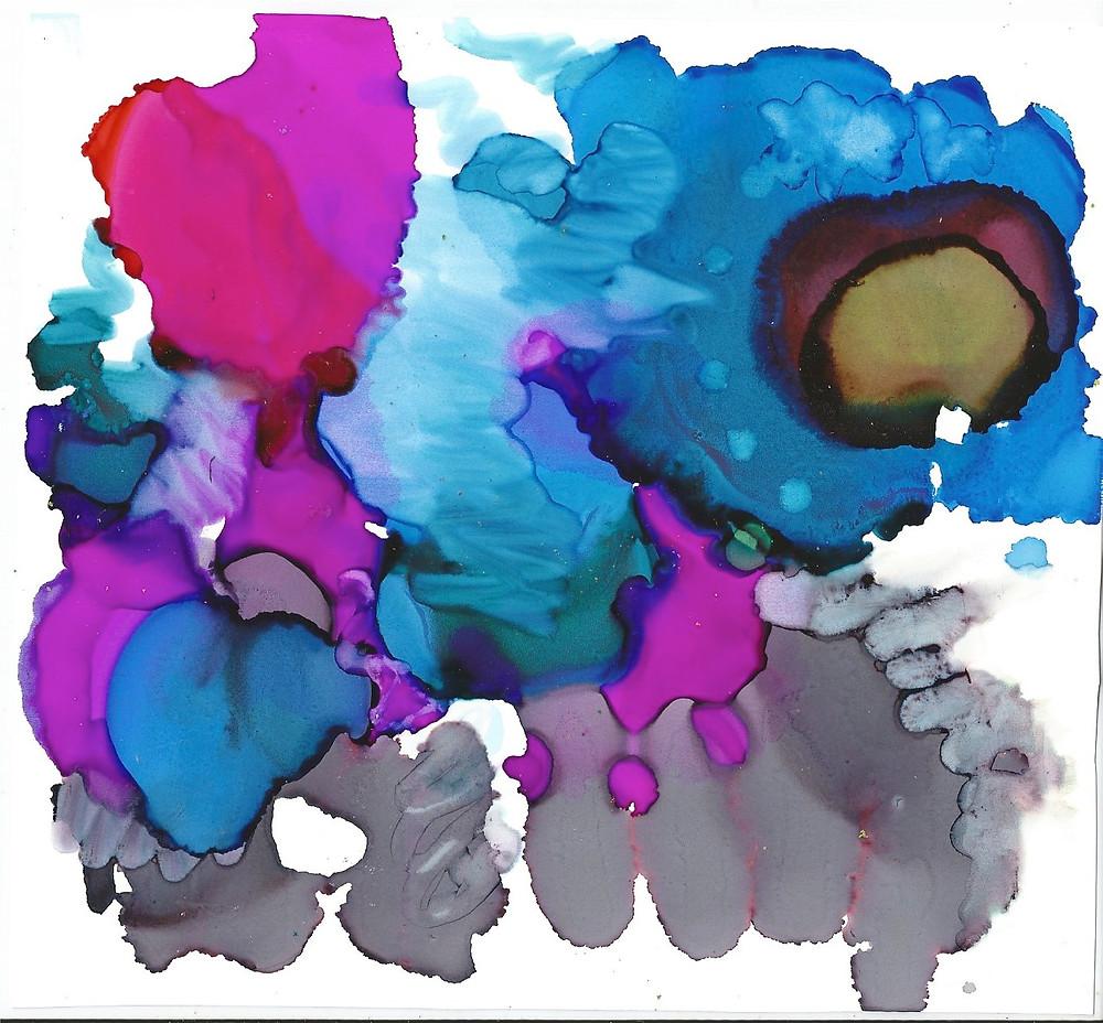 Yupo Print - Blue Dragon