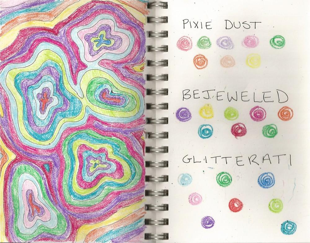 Crayon Sketchbook Page
