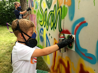 Graffiti zum Kindergeburtstag oder auf anderen Veranstaltungen.