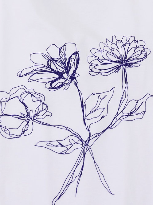 Flower design long sleeve - violet
