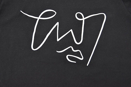 Signature design black short sleeve  - white