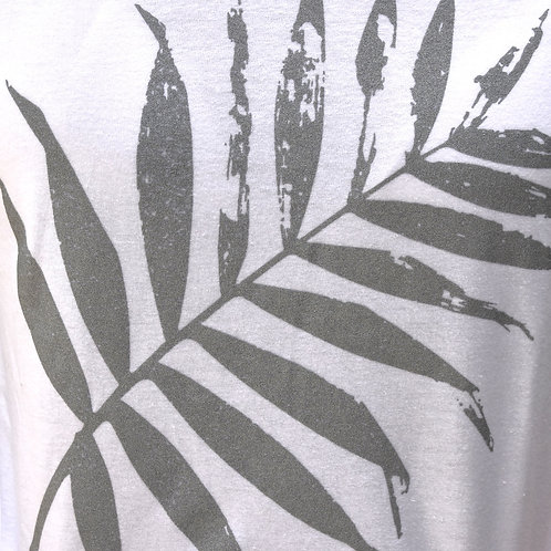 Leaf design - metallic silver