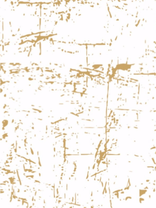 White T-shirt with metallic gold Stardust design