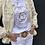 Thumbnail: White T-shirt with metallic gold Emblem design