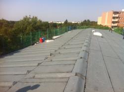 Flachdach mit Solarvorbereitung