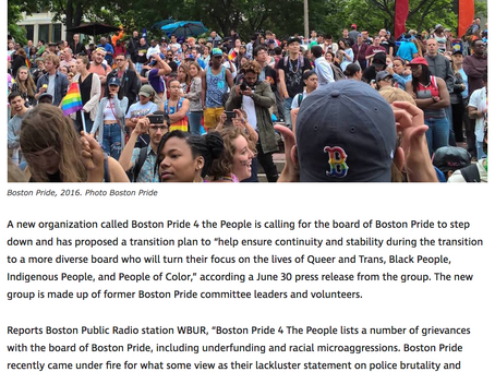 Tensions mount between Boston Pride and activists calling for board to resign