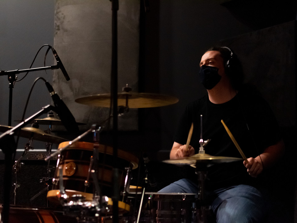 Drum Tracking Session at Ridenour Rehearsal Studios