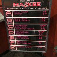 Markee Music Rehearsal Schedule