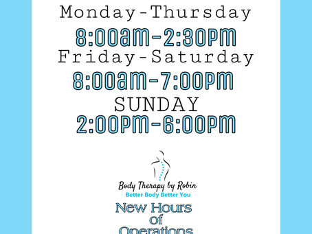 🚨New Operating Hours🚨