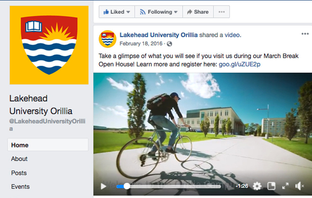 Lakehead Orillia corporate video