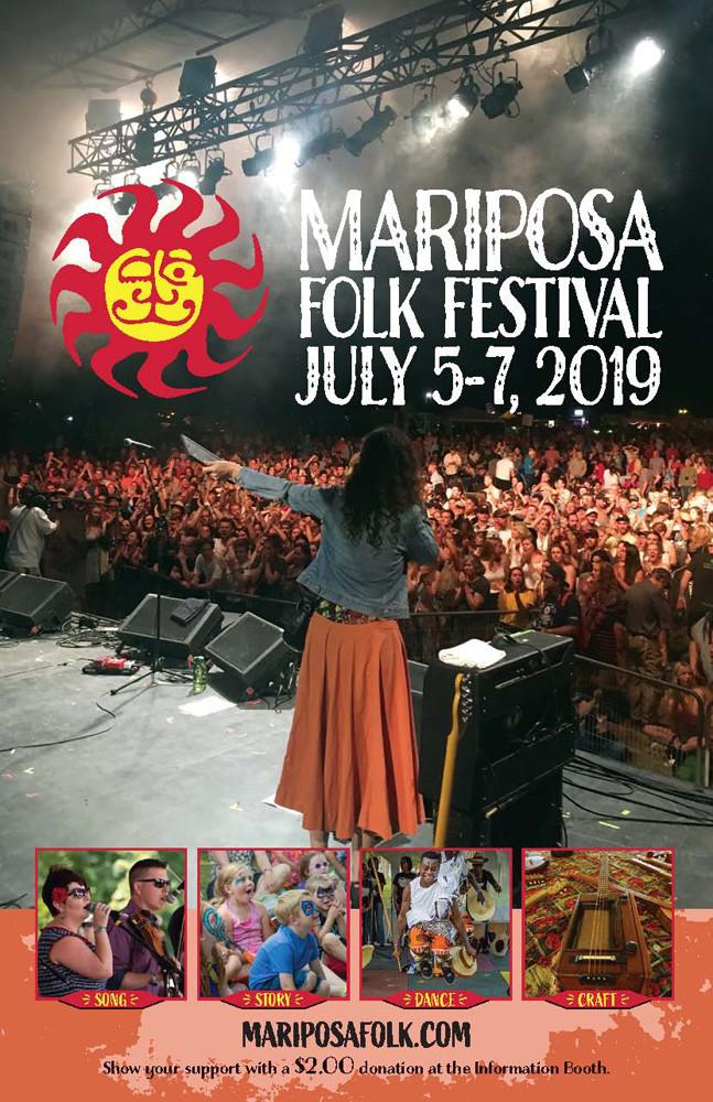 Mariposa Folk Festival program