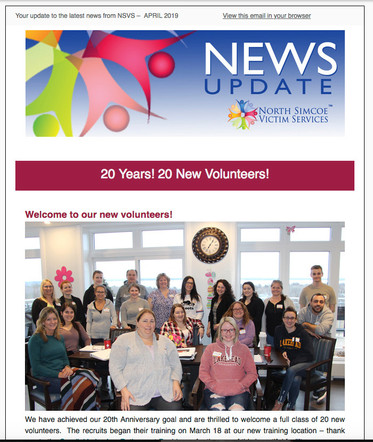 North Simcoe Victim Services newsletter