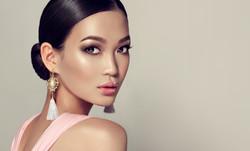 Asian model  fashion girl  with tassel e