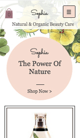 Wellness website templates – Biokosmetik