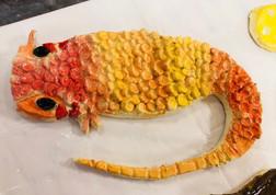 A pet lizard