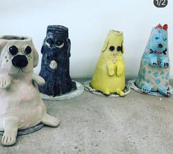 Long Neck Dog Vases