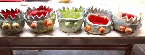 a group of 5 year olds shark bowls