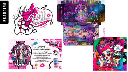 Inked Doll Cosmetics Branding and Package Design