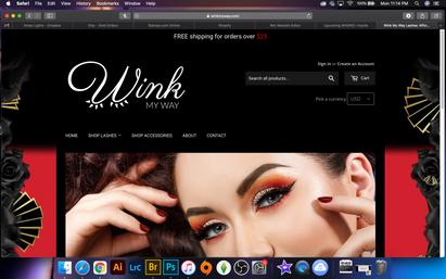 Shopify Site for Wink My Way Lashes
