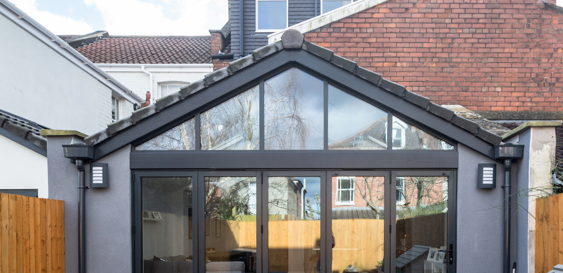 Completed rear view with glazed gable