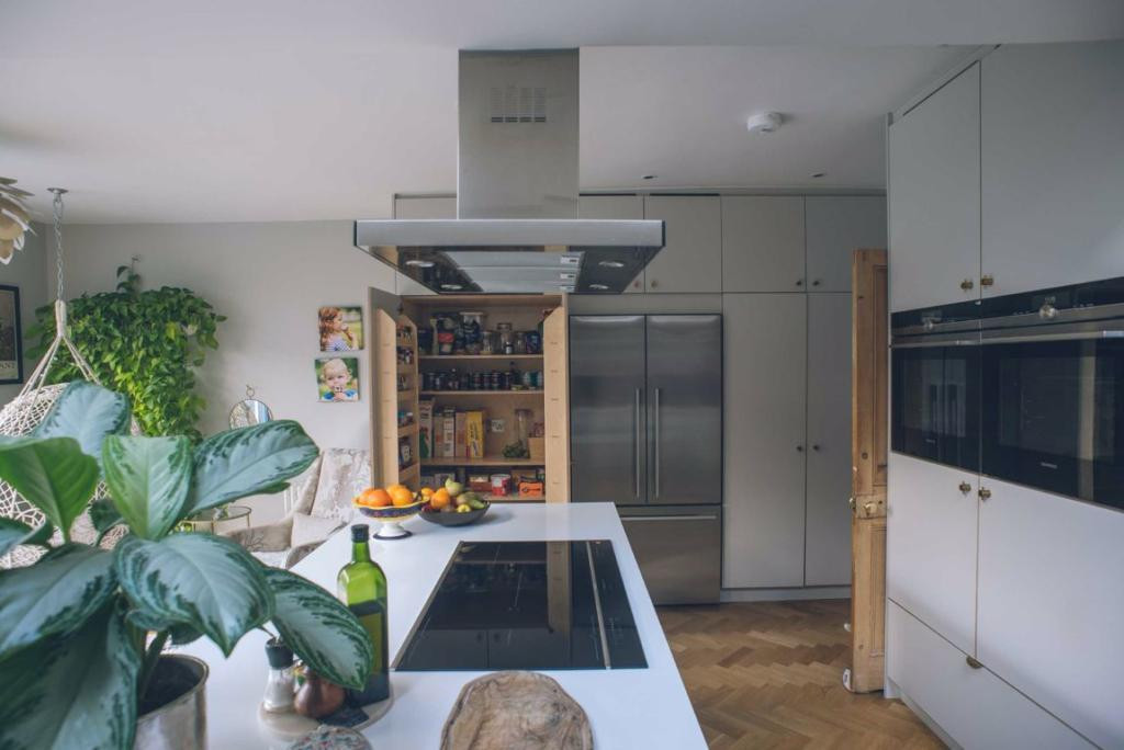 kitchen  - pantry and island