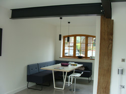 Completed dining area
