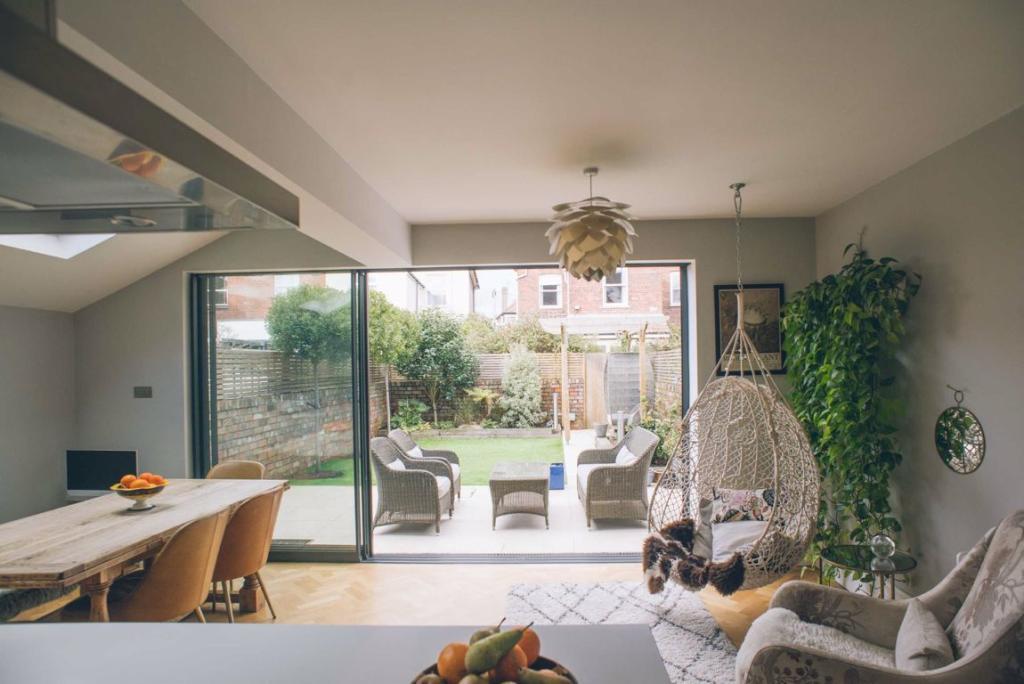 View through garden doors