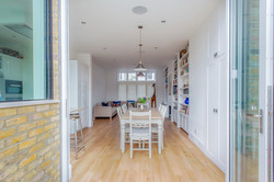 View from rear through open plan living/dining space