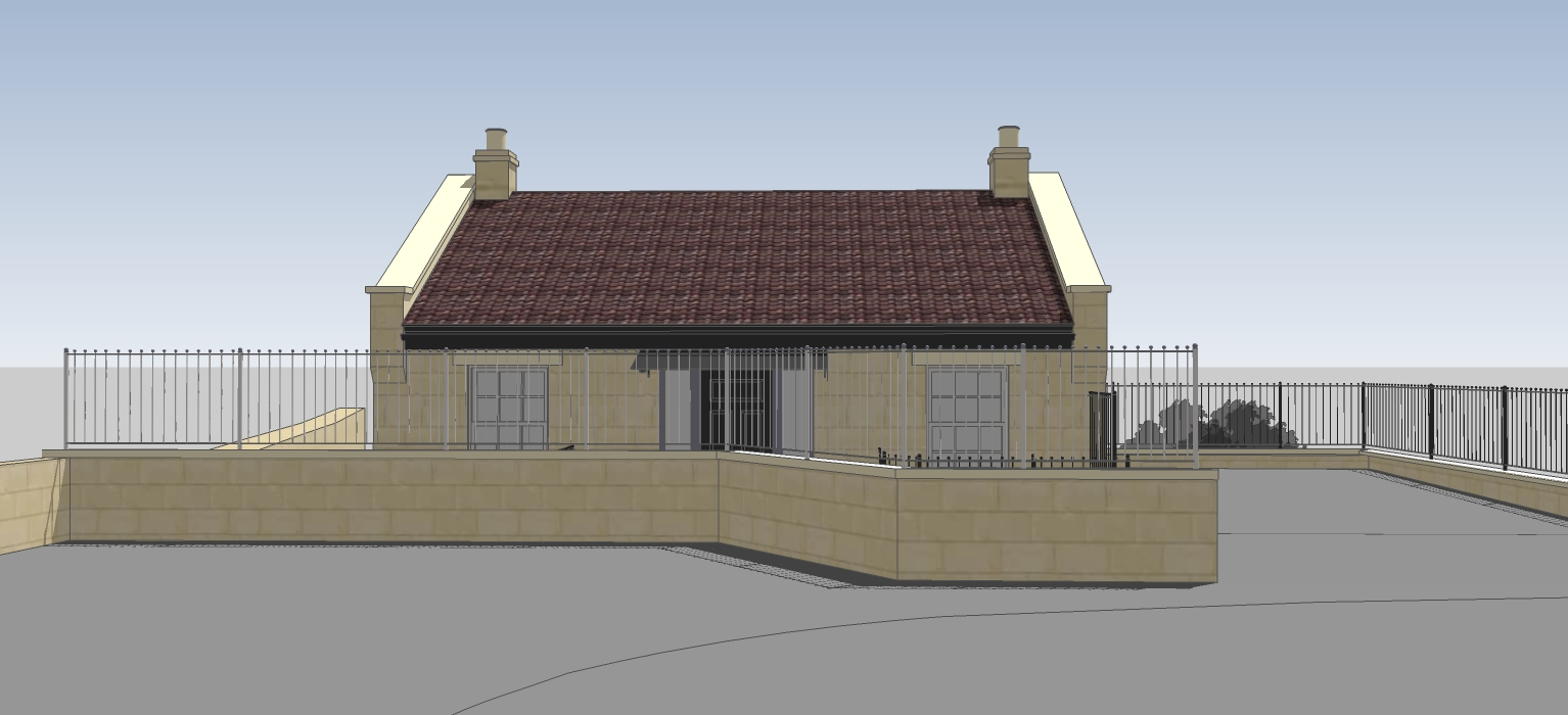 New House Front elevation