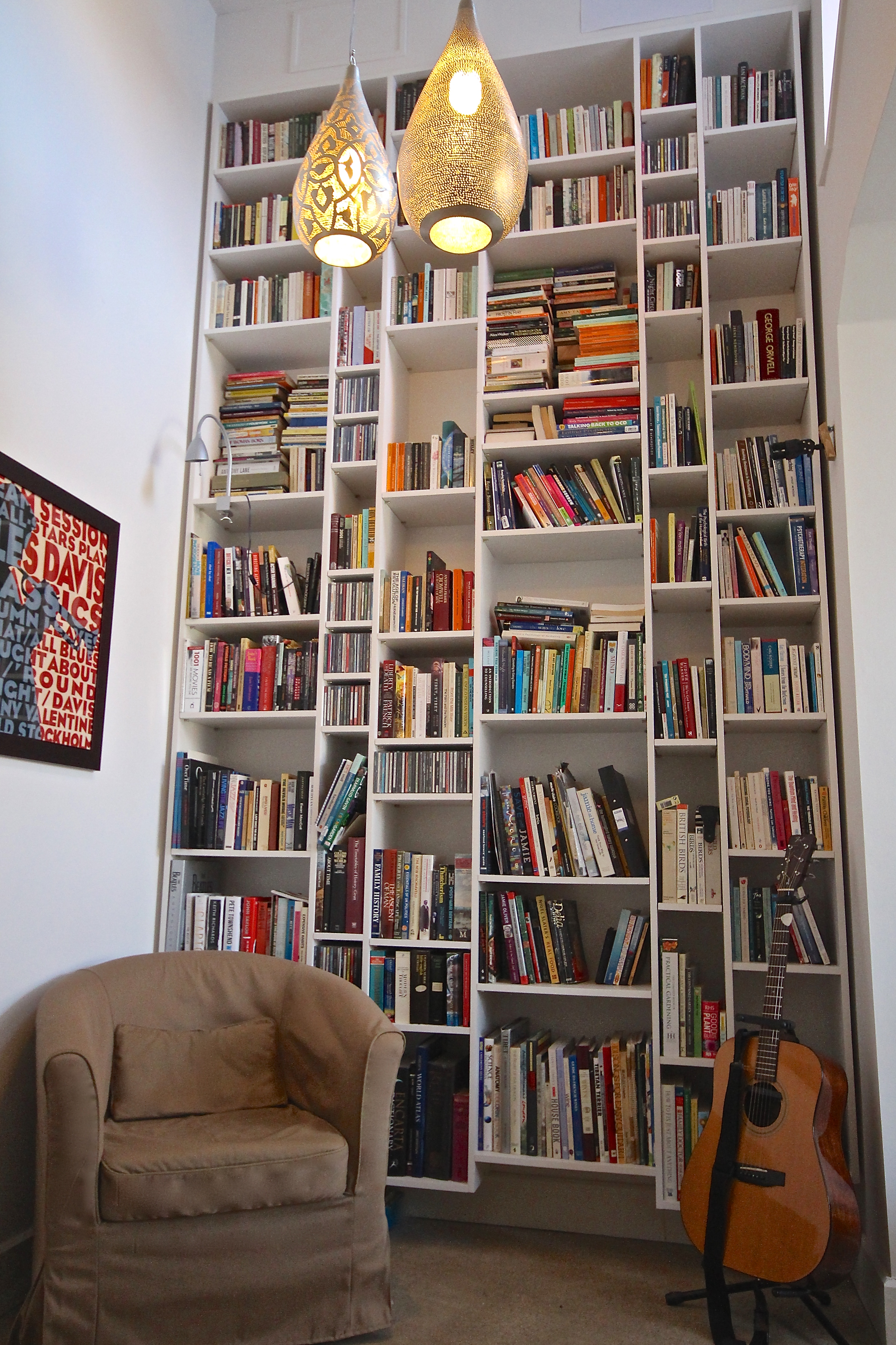 Floor to ceiling library!