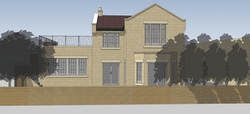 New House Rear elevation