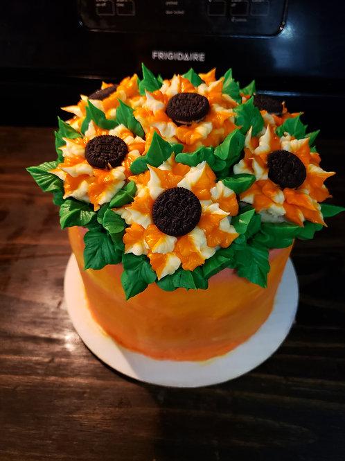 Sunflower Pot Cake Class