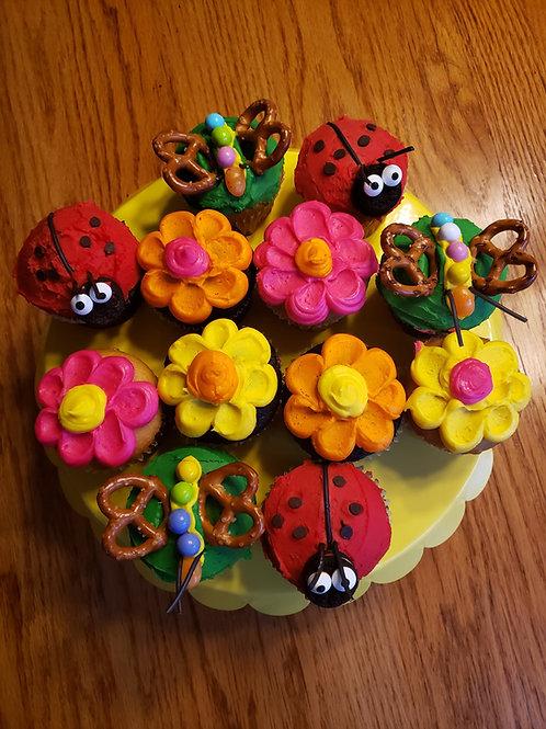 Kids Cupcake Kit Spring Garden
