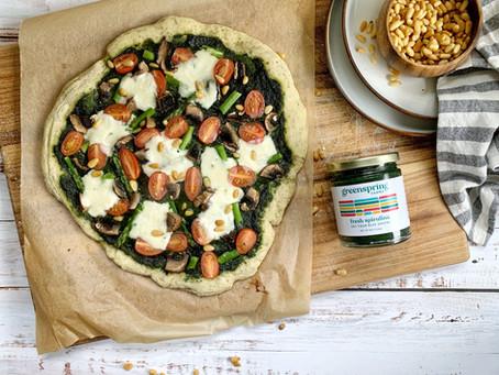 Spirulina Pesto Pizza
