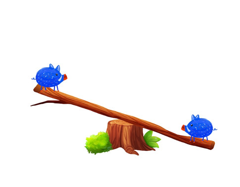 piggys and the seesaw